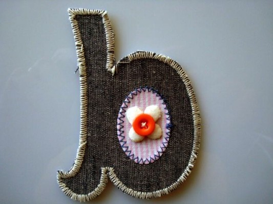 New patches for boy's: letter patch b