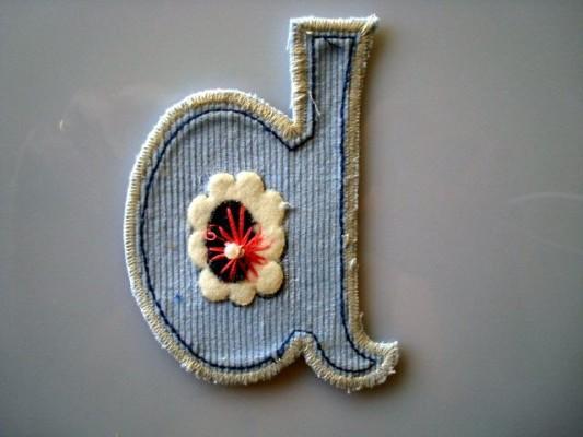 letter d patch