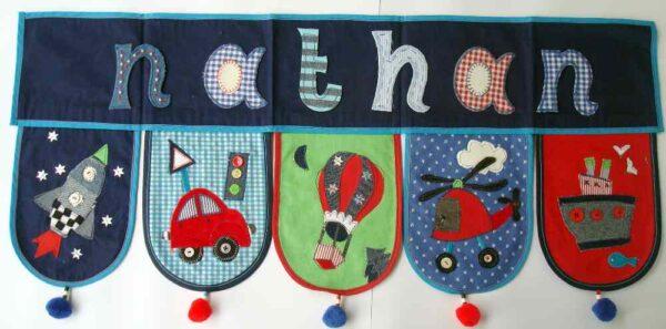 Diese Namen Dekoration ist ein Geschenk für Weihnachten von www.namengeschenk.de