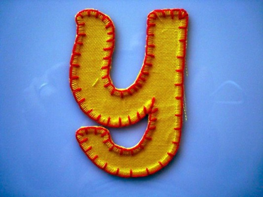 Buchstaben Patches machen Namen Aufbügler.