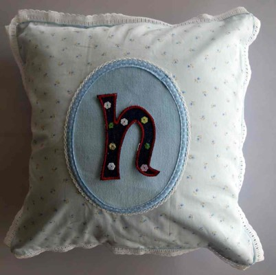 Iron-on letters to iron on decorative cushions.