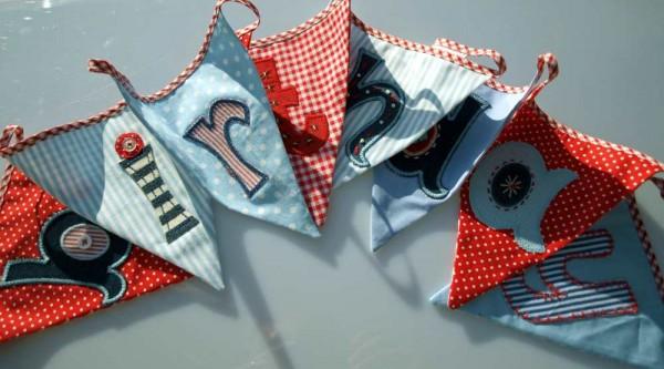 Birthday bunting is indoor fabric bunting decoration