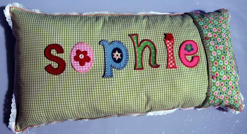 Kinder Geschenk Weihnachten 2011 - Kinder Namen Kissen Geschenk schenken zu Weihnachten 2011