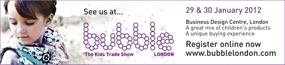 Trickyboo goes bubble - Kids Trade Show London
