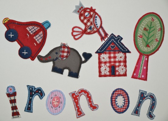 Iron-on letters-patches to personalize clothes-gifts