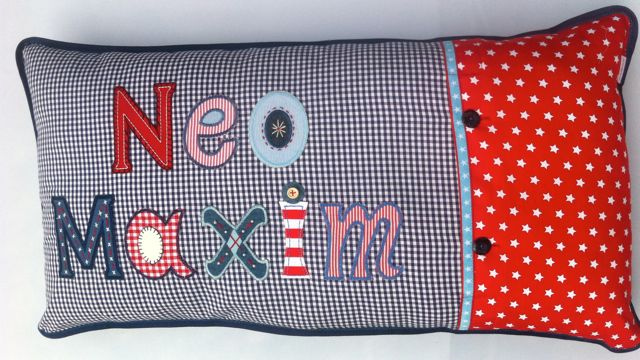 Personalize kids cushions with kids name