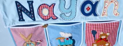 Dekoration Baby Kinder Zimmer - Namen Geschenke mit praktischen Taschen