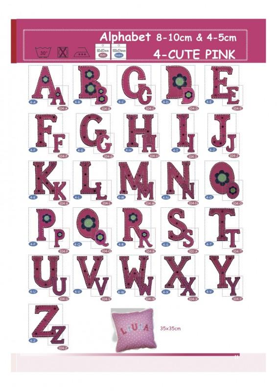 Kinder Buchstaben Patches flicken Kleider peppig