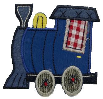 Lokomotive Aufbügler Patch - Kinder leicht zum Aufbügeln