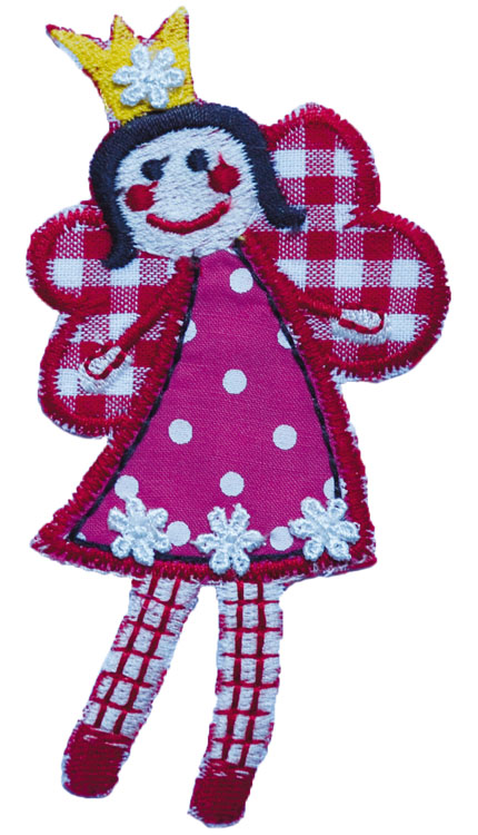 Fairy patches - Iron-on fabric patches for girls
