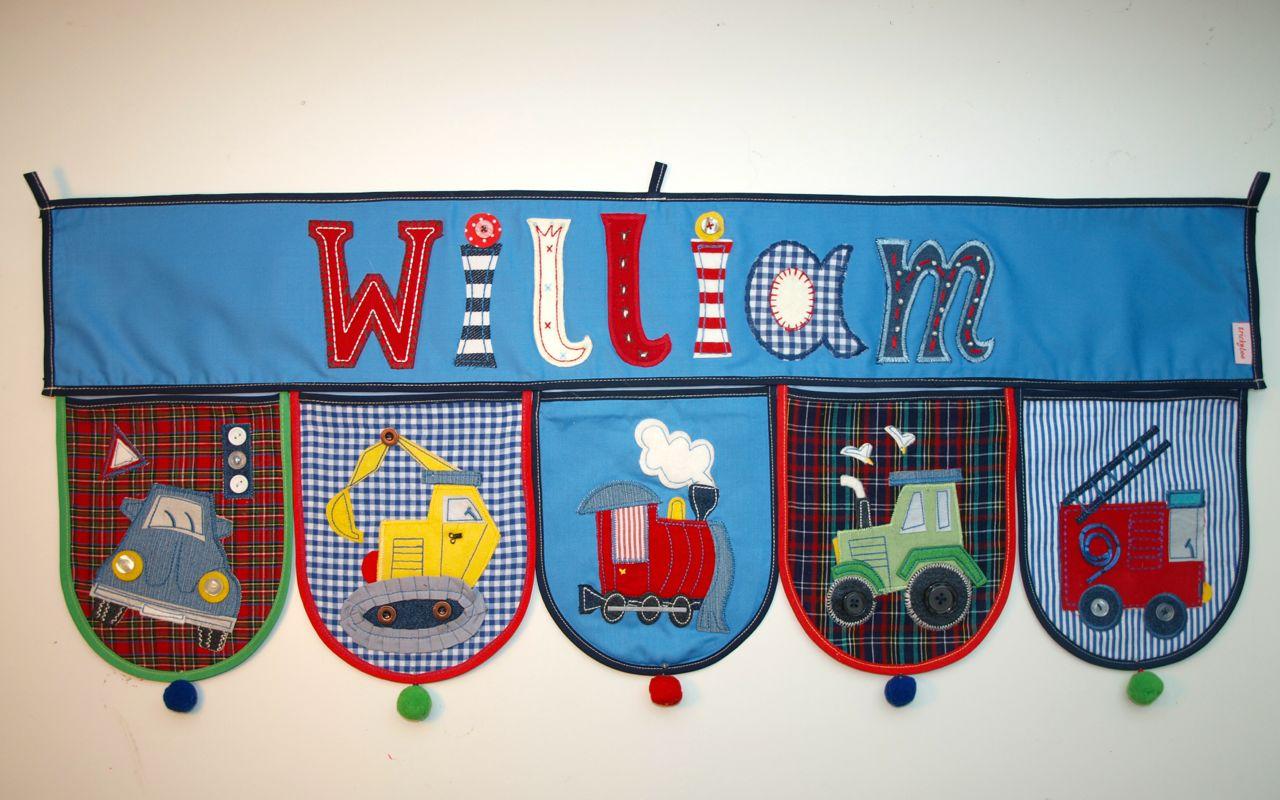 Kinder Zimmer mit Namen dekorieren Geschenk Idee