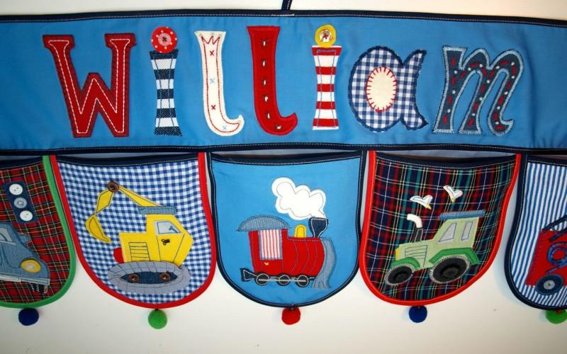 Baby Kinder Zimmer dekorieren mit persönlichem Namen Geschenk