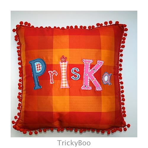 Buchstaben Namen Kissen Geschenk TrickyBoo