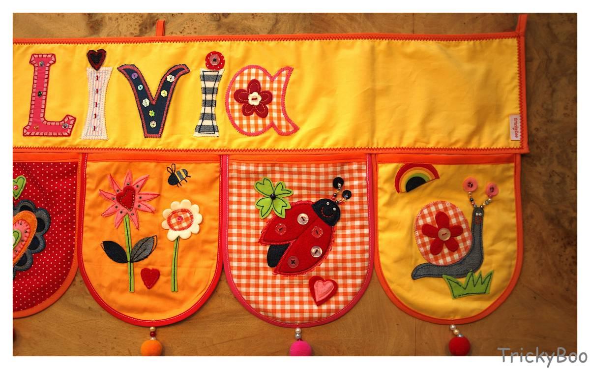 Mädchen Geschenk Namen Dekoration Kinderzimmer TrickyBoo
