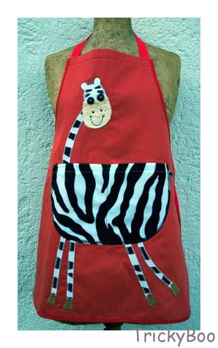 Kinder Schurz Geschenk Zebra Orange Weiss Schwarz