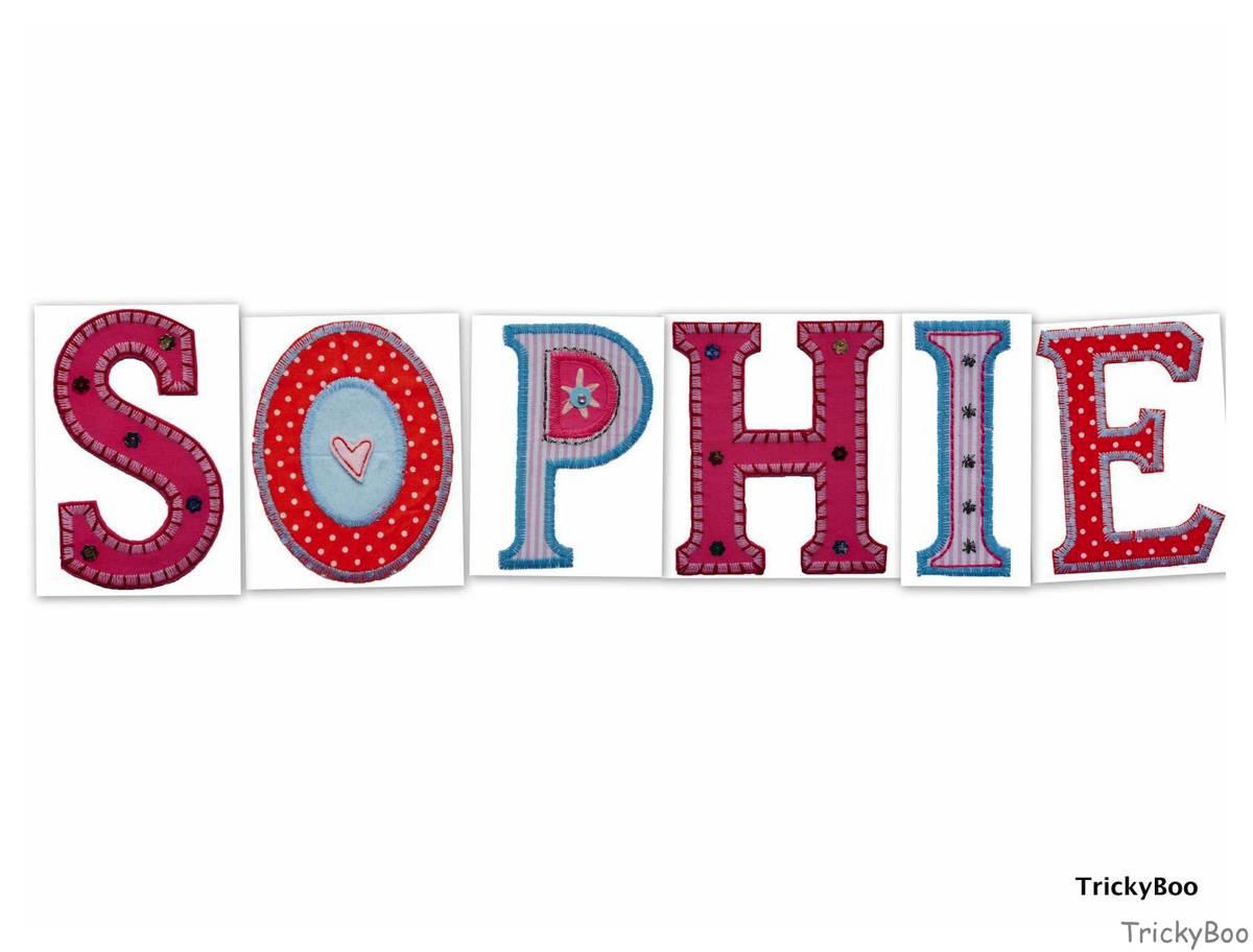 Kinder Buchstaben Aufbügler personalisieren Namen Geschenke