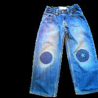 Jeans Kleider flicken mit Aufbügler