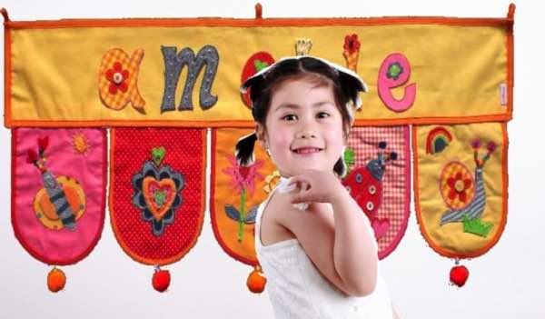 Kinderzimmer Dekoration Name von Baby Kind