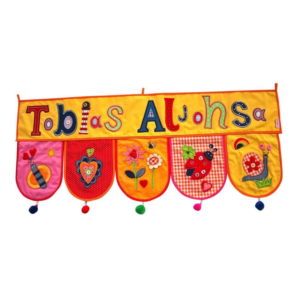 Kinderzimmer Dekoration Türschild Namen Geschenk Taufe