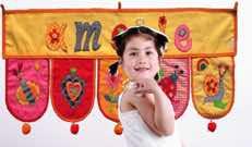 Kinderzimmer Dekoration gelb orange Mädchen Namen Wand